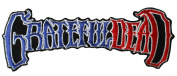 Grateful Dead Men's 50th Anniversary Logo RW & B Embroidered Patch Black