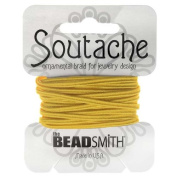BeadSmith Soutache Braided Cord 3mm Wide - Goldenrod Yellow