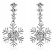 J Goodin Precious Womens Fashion Ornament Snowflake Drop Earrings