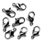 Jewellery Basics Metal Findings-Gunmetal Lobster Clamp 8/Pkg