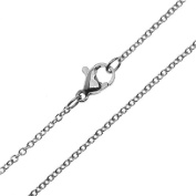 Beadaholique Oval Cable Chain Finished Necklace, 18 1 Necklace 1.5mm Links, Stainless Steel