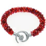 Beaded Kumihimo Bracelet (Red Tones) - Exclusive Beadaholique Jewellery Kit