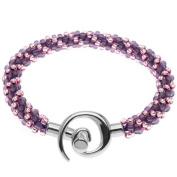 Spiral Beaded Kumihimo Bracelet (Pink/Purp) - Exclusive Beadaholique Jewellery Kit