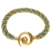 Spiral Beaded Kumihimo Bracelet (Gold/Turq) - Exclusive Beadaholique Jewellery Kit