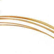 14K Gold Filled Wire Half Round/Half Hard 22 Gauge-
