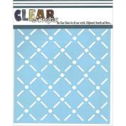 Clear Scraps Stencils 15cm x 15cm -Quilt