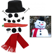 Evelots My Very Own Snowman Kit, 15 Pieces Included