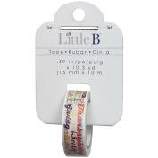 Little B Decorative Foil Tape 15Mmx10m-Autumn Word Play Gold