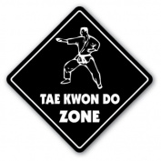 TAE KWON DO ZONE Sign xing gift novelty martial arts master instructor student