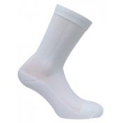 Caresox CSD 0356 Dress Classic Crew Compression Drystat Socks, White - Extra Large