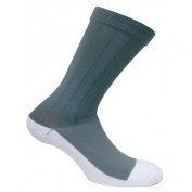 Caresox CSD 0356 Dress Classic Crew Compression Drystat Socks, Grey - Large