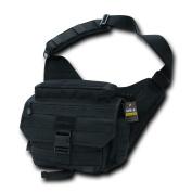 Rapdom Tactical Messenger Bag, Black