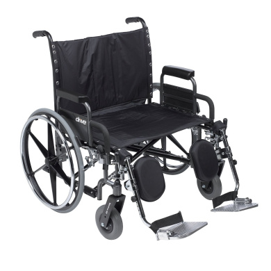 Deluxe Sentra Heavy Duty Extra Wide Wheelchair with Detachable Desk Arm, Elevating Leg Rests and 80cm . Seat