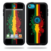 Mightyskins Protective Vinyl Skin Decal Cover for OtterBox Defender Apple iPod Touch 5G 5th Generation Case Rasta Flag
