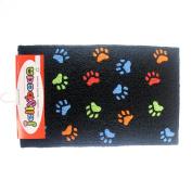 Puppy Love Paw Prints Family Pet Dog Accent Washable Rug 50cm X 80cm Jellybean