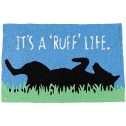 It's a Ruff Life Dog Mans Best Friend Washable 21 X 33 Area Accent Jellybean Rug