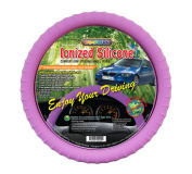 New SILICONE Purple Steering Wheel Cover with Negative Ion! By Cameleon
