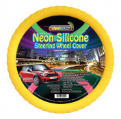 New SILICONE Neon Yellow - Glow in the Dark - Car Steering Wheel Cover By Cameleon