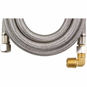 Certified Appliance DW120SSBL Braided Stainless Steel Dishwasher Connectors With Elbow [300cm ]