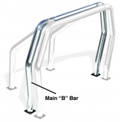 Go Rhino 96002C Rhino Bed Bars Rear Main B Bar Chrome
