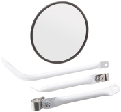 Grote 28481 22cm White Convex Cross-Over Mirror Assembly