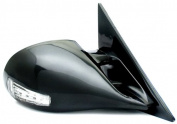 IPCW CML-S10 Black M3 Style Manual Side Mirror with LED Turn Signal - Pair