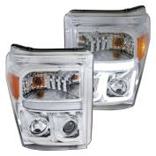 Anzo USA 111291 Headlight Assembly Projector Clear Lens w/U Bar