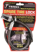 """Trimax ST30 Trimaflex Spare Tyre Cable Lock (Round Key) 36"""" x 12mm"""