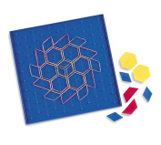 Learning Resources Two-Sided Pattern Block Array Geoboard