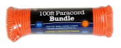 SE PC103OR55 30m Paracord Bundle with 7 Strands, Orange with Reflective Tracer