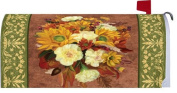Welcome Fall Autumn Glory Floral Mailbox Wrap Cover