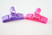 24 Hangers for American Girl Dolls- 12 Pink 12 Lavender