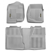 Goodyear Floor Protection 240025 Goodyear Front Pair & Rear Over Hump Grey Ford F150 Super Cab Does not fit bucket seat models with Flow through console