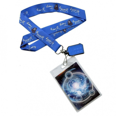 "Doctor Who Lanyard: ""Timey Wimey"" with 3D TARDIS Charm"