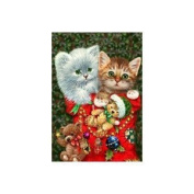 Christmas Kittens Garden Flag Mini Bear Stocking Bear Ornaments