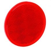 Bargman 70-38-010 Reflector - Bulk - 8.1cm - Round - Adhesive Mount - Red