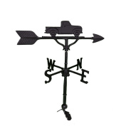 Montague Metal Products 80cm Weathervane with Stain Black Classic Truck Ornament