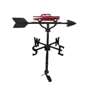 Montague Metal Products 80cm Weathervane with Red Classic Car Ornament