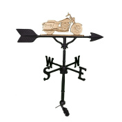 Montague Metal Products 80cm Weathervane with Gold Motorcycle Ornament