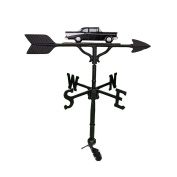 Montague Metal Products 80cm Weathervane with Black and White Classic Car Ornament