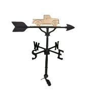 Montague Metal Products 80cm Weathervane with Gold Classic Truck Ornament