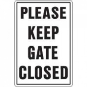 HY-KO PRODUCTS 20523 PLEASE KEEP GATE CLOSED SIGN