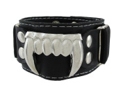 Black Vinyl Vampire Fangs Wristband