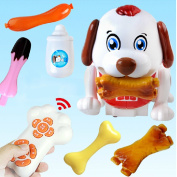 Happytime Electronic Pets Series-Intelligent Robot Dog Toy for 3+ Kids Childs Play Touch Control Learning Educational Toys