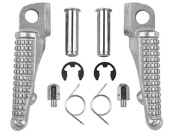 Tengchang Silver Motorcycles Footrests Foot Pegs For ER6N ER6F NINJA 650R 2009-2013 Z750 Z750S