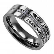 Spirit And Truth Jewellery 121915 Ring-Crescent Cross-Trust-Size 9