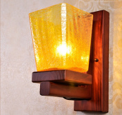 Chinese wall lamp bedside lamp bedroom bedside American retro living room wall warm wooden staircase penthouse balcony