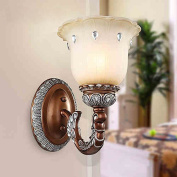 European-style wall lamp bedroom bedside mirror before lighting outdoor corridor wall lamp single head porch lamp aisle