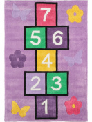 Kid's Rug Hopscotch - pollution-free - 100% Polyester - Abstract - Machine woven - Children's room