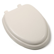 Comfort Seats C1B5E2-01 Deluxe Soft Toilet Seat with Wood Cores, Elongated, Bone